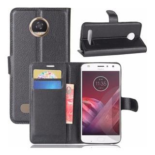 Capa Case Carteira Flip Motorola Moto Z3 Play Preto