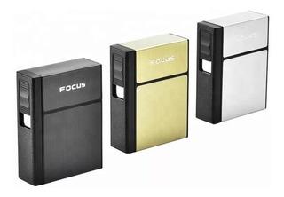 Cigarrera / Porta Cigarros Con Encendedor Recargable Usb