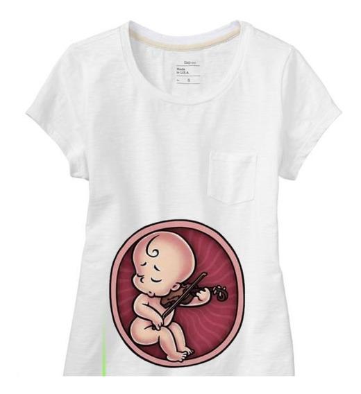 Remera Embarazada Bebes Musicos - Dia De La Madre