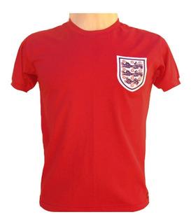 Camisa Retro Inglaterra 1966 #9 Bobby Charlton Copa Do Mundo