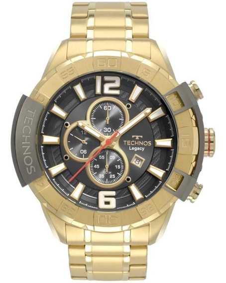 Relógio Masculino Technos Legacy Os10fe/4p 56mm Aço Dourado