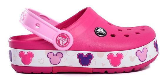 Zuecos Crocs Crocband Mickey Fun Lab Lights Kids -c204994-c6