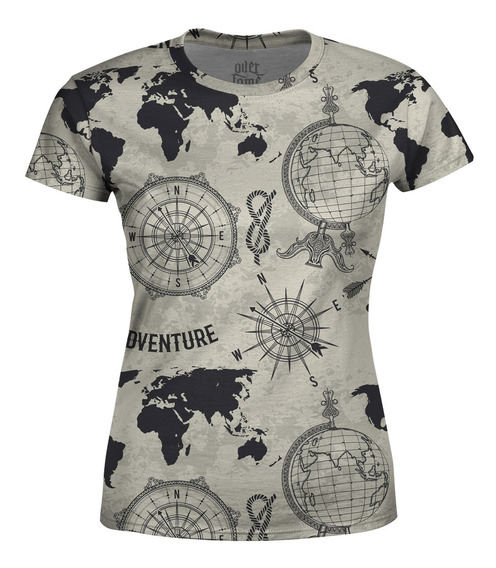 Camiseta Baby Look Feminina Expansão Marítima Total Print