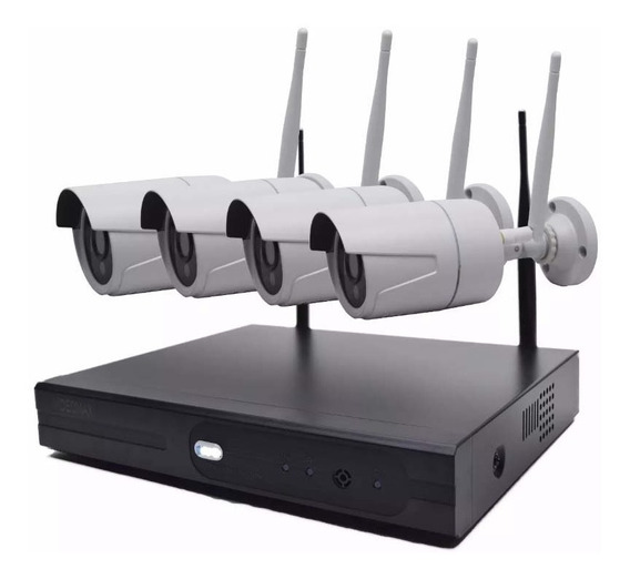 Kit 4 Cámaras Seguridad Inalambricas Wifi Hd + Nvr Int/ext