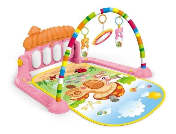 Tapete De Atividades Para Bebê Villa Piano Musical Rosa