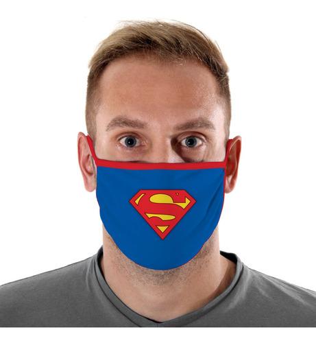 Mascara De Protecao Logo Super Homem Adulto