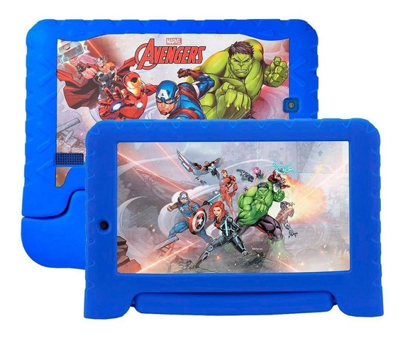 Tablet Multilaser Disney Avenger Plus Nb307 1gb 16gb Expansível 64gb 2 Câmeras Android Nota Fiscal Garantia Oferta Loi