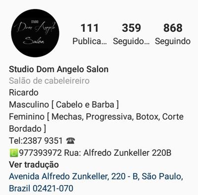 Studio Dom Angelo Salon Cabeleireiro & Barbeiro / Ricardo