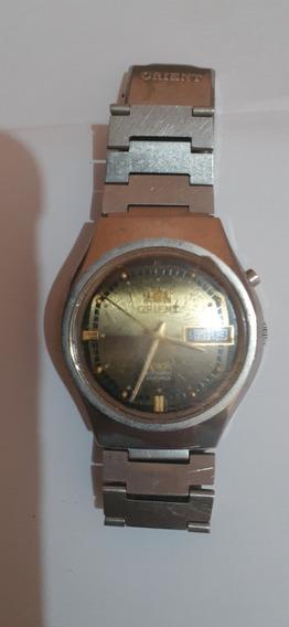 Relógio Pulso Orient Automático Dourado E Verde Antigo