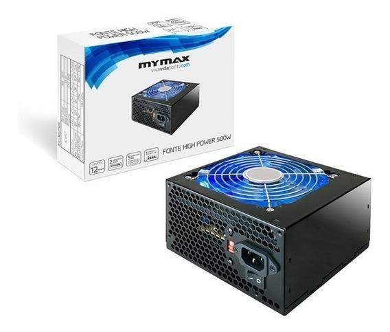 Kit 3 Fontes Atx Mymax Atx 500w Mpsufp500w Top