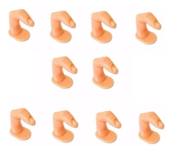 10 Dedo Postiço P/ Treino Manicure Plastico Unha Gel Acrigel