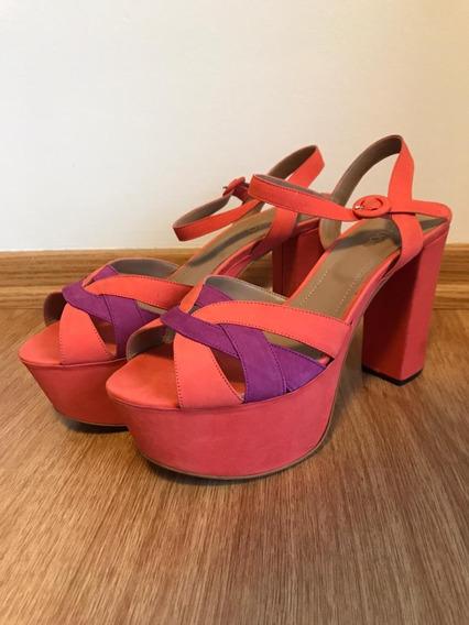 Zapatos Sandalias Fiesta Plataforma Talle 40