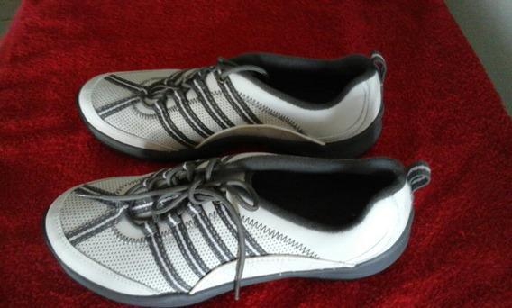 Zapatos Clarks Oríginal,privo,damas Talla 7.5 Color Blanco
