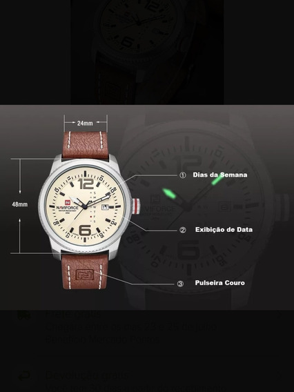 Relógio Esportivo Naviforce Nf9063 Não Citizen Seiko Invicta