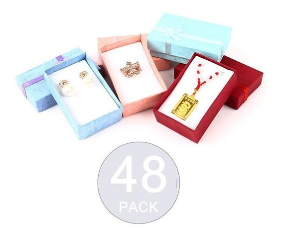 Pack 48 Cajas Joyas Cadenas Anillos 8x5cm Regalo / Todocajas