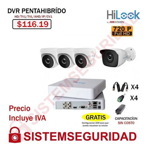 Kit 4 2 6 8 16 Camaras Seguridad Cctv Hd 720p  1080p Hilook