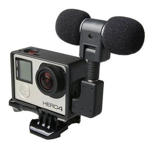 Kit Microfone Sterio E Case Para Gopro Hero 3 E 4