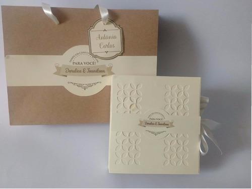Imagem 1 de 10 de Caixa Convite Padrinho De Casamento Criativa Batom Chocolate