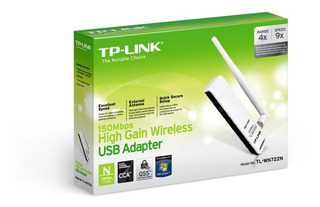 Placa De Red Usb Tp-link Tl-wn722n 150mbps Wireless N Antena