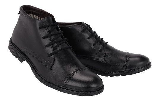 Sapato Social Oxford Masculino Cano Médio Couro Legítimo