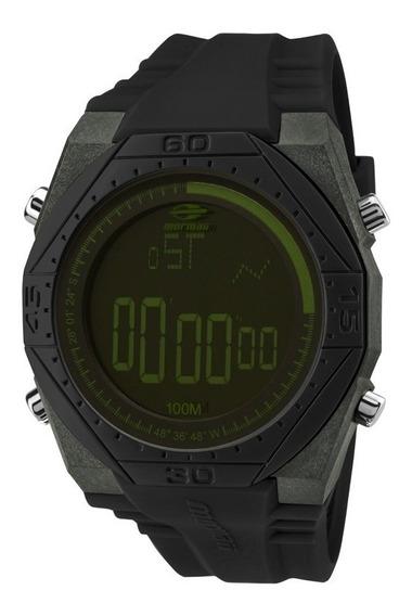Relógio Mormaii Mo3374b/8v Mo3374b 8v Silicone Preto Verde