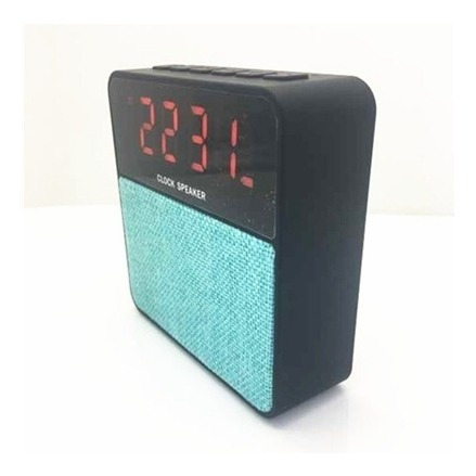 Radio Relogio Despertador Caixa De Som Bluetooth Led Com Fm