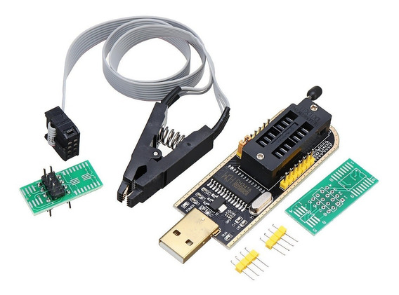 Programador Usb Ch341 + Pinza + Cable Bios Eeprom Libera Todad Tecnopedido