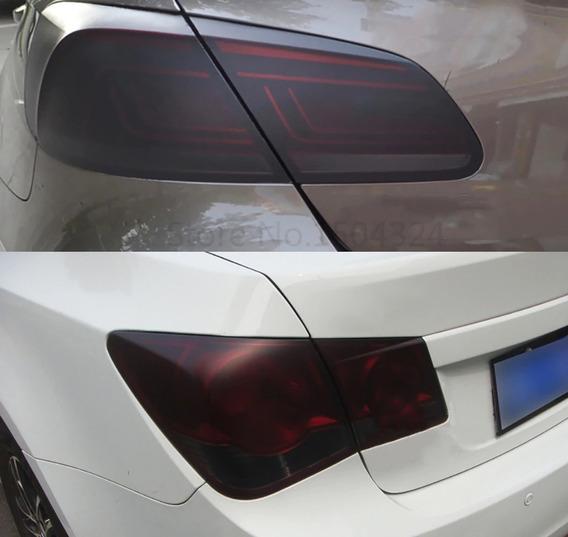 Vinilo Fume Negro Mate Luces Ópticas Autos Moto (30cm X 1m)