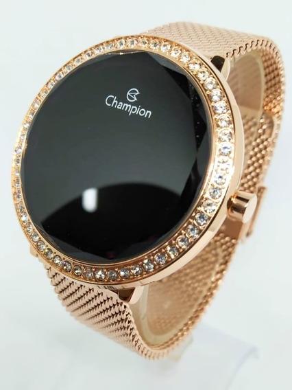 Relógio Champion Rosê Digital Ch48037p - Original C/ Nota