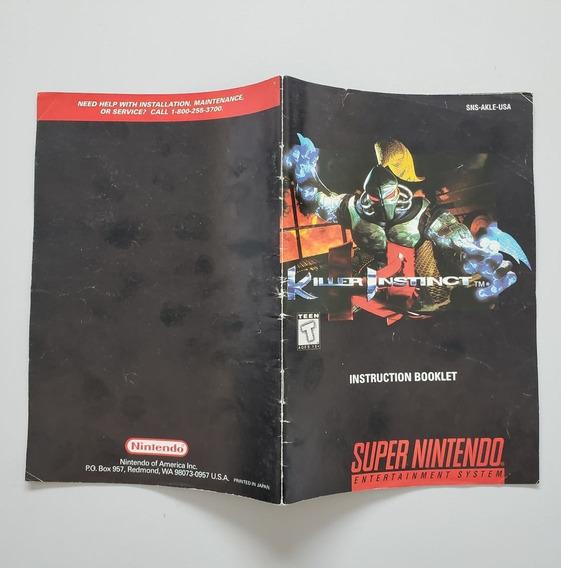 Manual Killer Instinct Original Snes