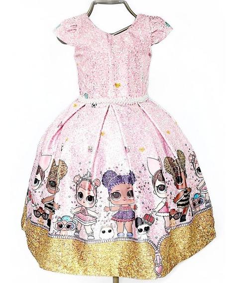 Vestido Infantil Luxo Da Lol