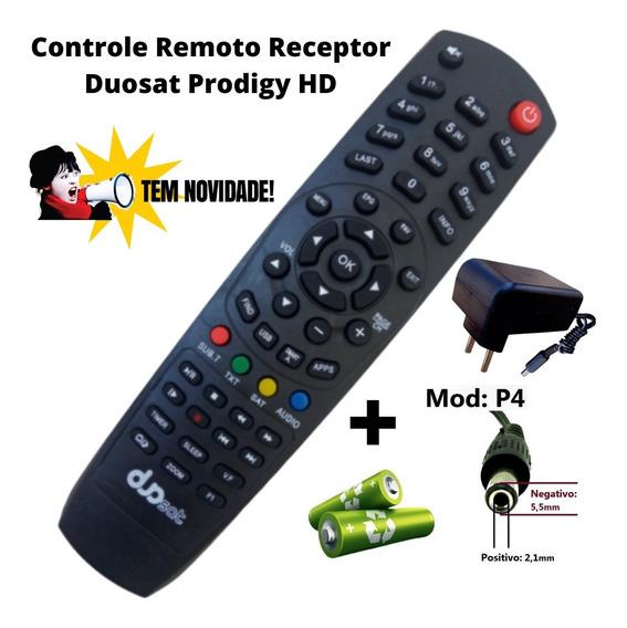 Controle Remoto Prodigy Hd +fonte 12v 2a + Pilhas P/wi-fi