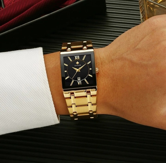 Relógio Wwoor Dourado