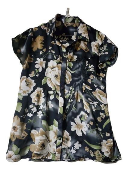 Camisas De Seda Estampadas T 3 Al 6 - Feria Liquidacion !!!