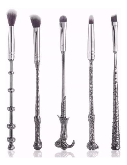 Pinceis Harry Potter Varinhas Kit Com 5
