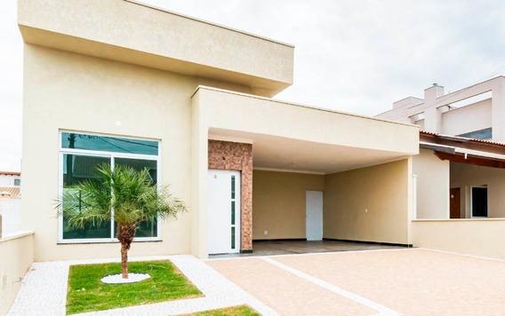 Casa Nova À Venda Em Condomínio Em Paulínia, Terras Do Fontanário. Estuda 50% Do Valor Em Permuta Com Imóvel Ou Veículo. - Ca00456 - 34188084