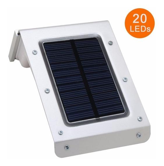 Lampada Solar 20 Leds Sensor Movimento Pronta Entrega