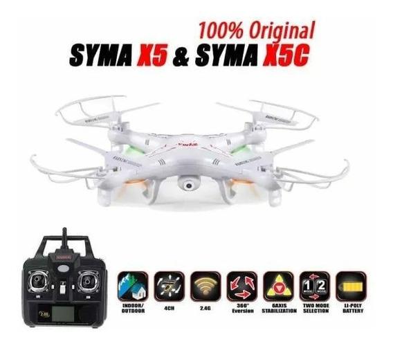 Drone Syma X5c Com Camera Hd 6 Axis 2,4 Ghz Pronta Entrega
