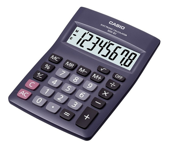 Calculadora Escritorio Casio Mw-8v Garantia Oficial 2 Años