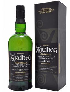 Whisky Ardbeg 10 Años Islay Single Malt Con Estuche Escoces