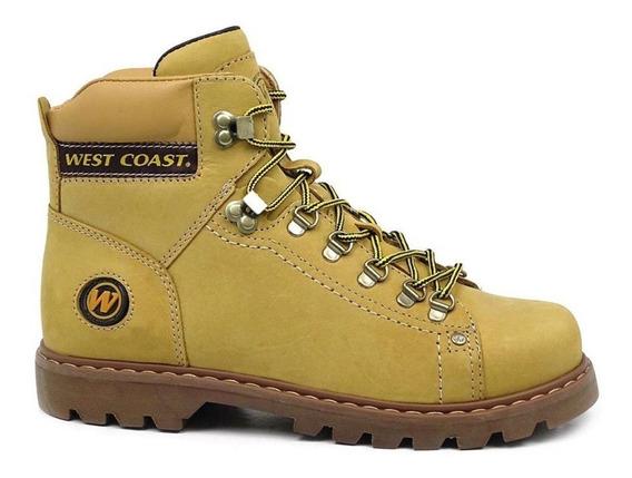 Bota West Coast Coturno Worker Couro Legitimo 5790