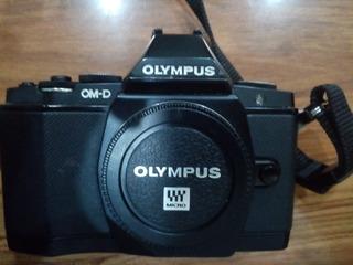 Cámara Olympus Om-d E-m5 Kit Con 4 Lentes