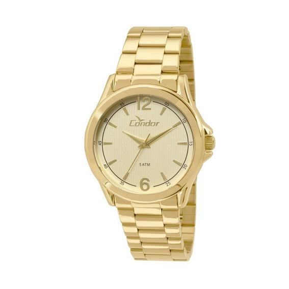 Relógio Condor Casual Masculino Co2035kos/4x Dourado Com Nf