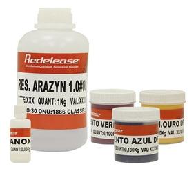 Resina Poliester Cristal C/ Cat + Pigmentos Primários