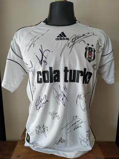Rara Besiktas 2010 Camisa Reserva #7 Quaresma - Autografada
