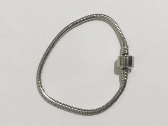 Pulseira Para Berloques Tam 18cm Aço Cirúrgico 316 L