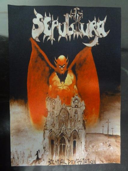Backpatch Sepultura - Bestial Devastation - 40x28
