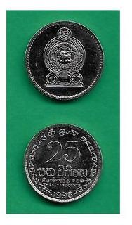 Grr-moneda De Sri Lanka 25 Cents 1996