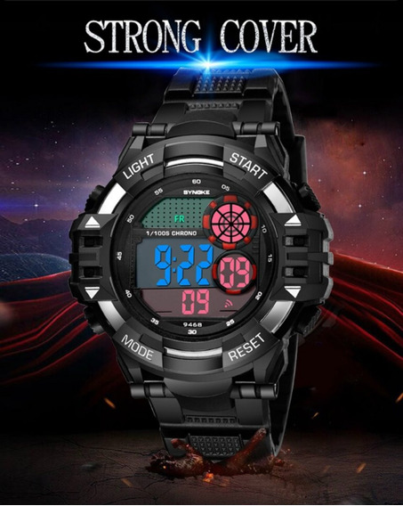 Relógio Masculino Esportivo Importado Anti-shock Synoke 9468