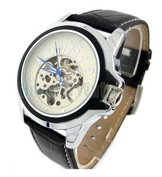 Relógio Masculino Inox Automático Mecânico Goer Vencedor